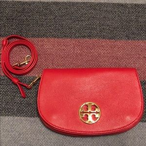 TORY BURCH RED LEATHER PURSE